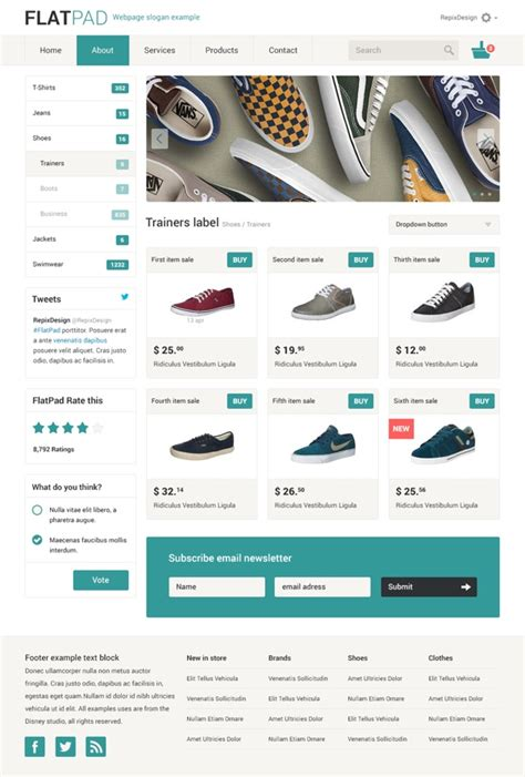 layout online store flatpad online shop psd template by repix design via