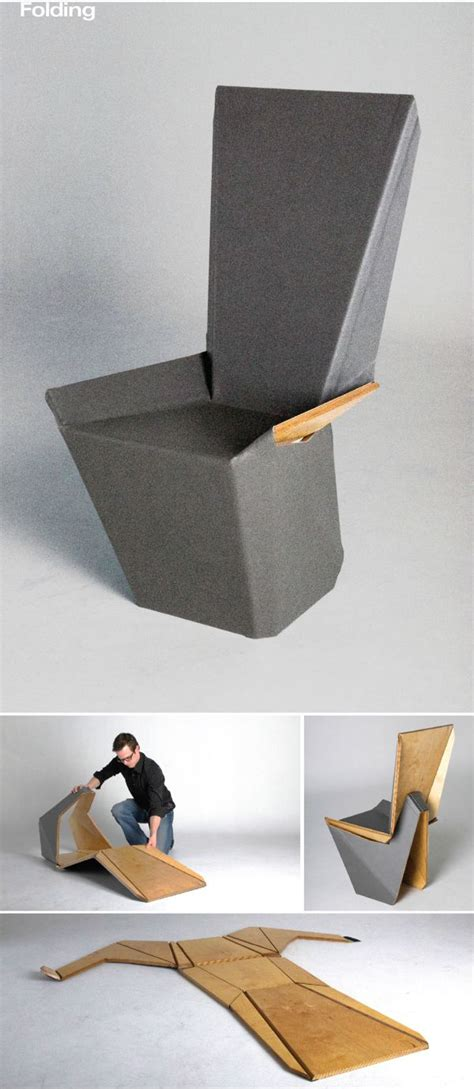 Origami Chair - explore unique and unconventional designs inspired by origami