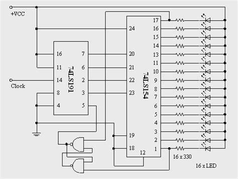 rangkaian dan layout running led beritaku rangkaian running led