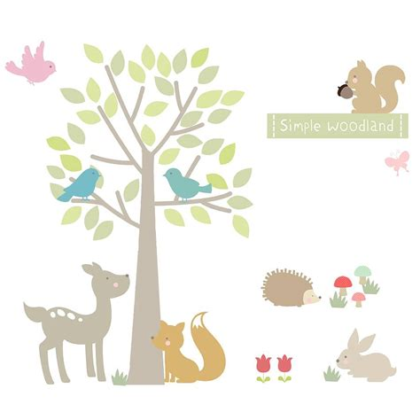 woodland wall stickers simple woodland fabric wall stickers by littleprints