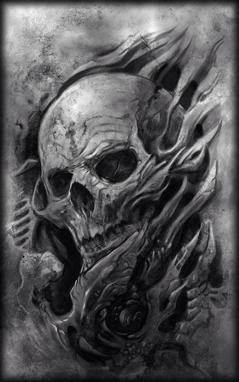 scary skull tattoo designs creepy skull design amazing ink
