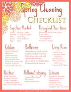 spring cleaning list sunday funday free printable spring cleaning checklist