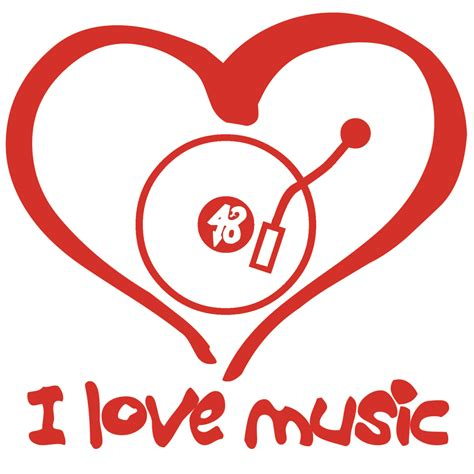 i love house music logo house base