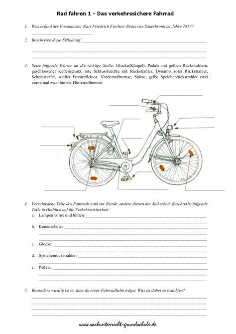 Beschriftung Verkehrssicheres Fahrrad by Das Verkehrssichere Fahrrad Grundschule