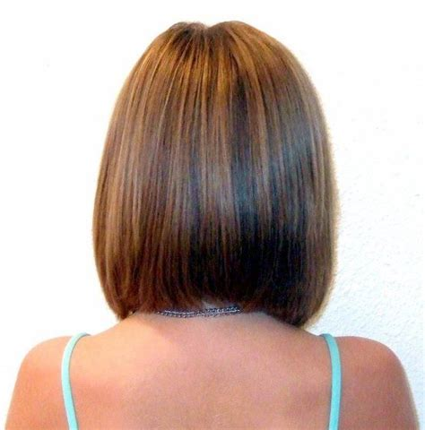 Hair In Front Shoulder Length In Back | long angled bob haircuts back view rebecca for hair