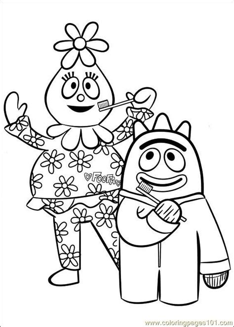 yo gabba gabba coloring pages free printable 69 best dental coloring pages images on pinterest oral