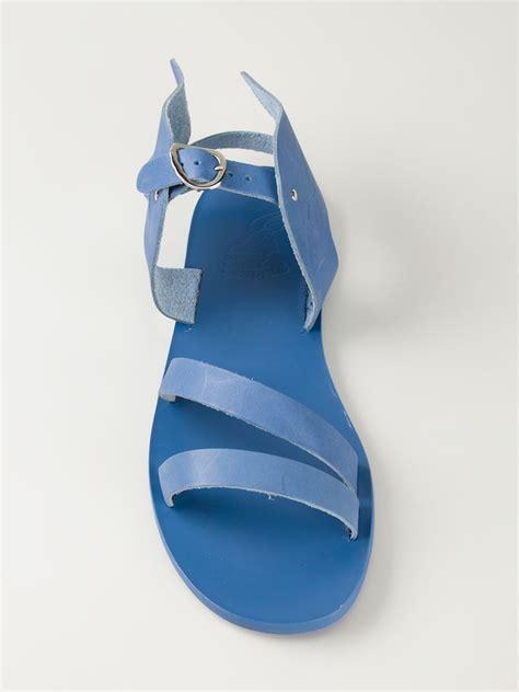 Sandal Hermes 2020 1 1 ancient sandals hermes sandals in blue for lyst