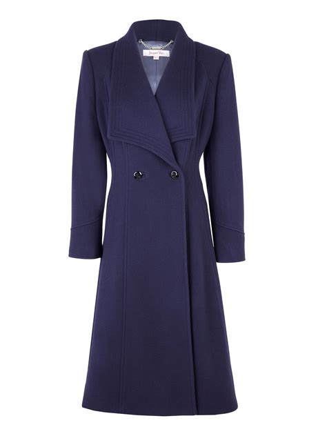 jacques navy jacques vert navy contemporary coat in blue navy lyst