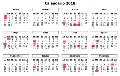 Calendario 2018 De Colombia Calendario Y Festivos En Colombia 2018 Tierra