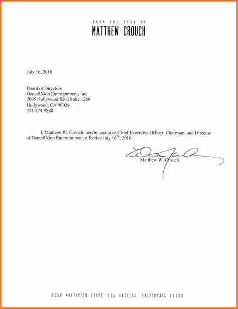 standard resignation letter sales report template