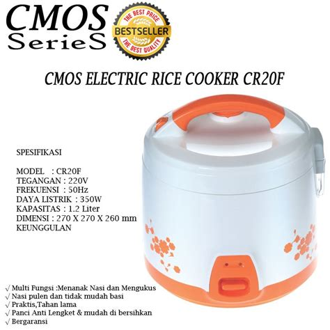 new promo cmos series aneka rice cooker 08 l 18