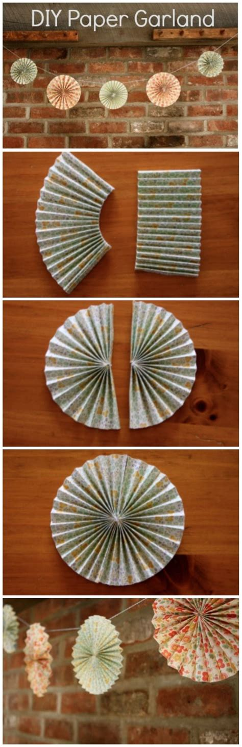 How To Make A Paper Fan Circle - wedding paper garland diy rustic wedding chic