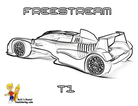 free coloring pages of f1 racing