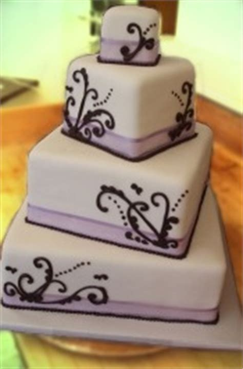 offset square tiered wedding cake  ribbon   solvang bakery solvang california