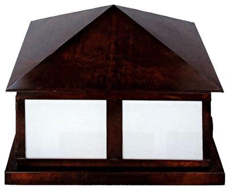 outdoor column mount lighting georgetown pier base column mount copper lantern by