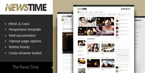 newspaper theme html5 the news time magazine html5 template by kopasoft