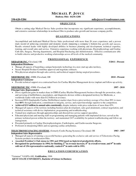sales representative resume objective resume ideas