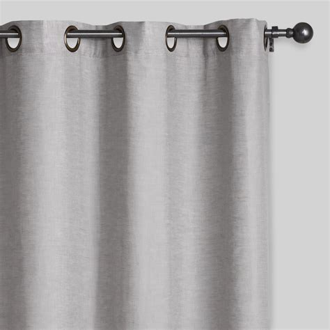 grey grommet curtains slate gray linen grommet top curtains set of 2 world market