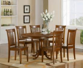 Dining Room Table With 6 Chairs 7 Pc Oval Dinette Dining Room Set Table And 6 Chairs