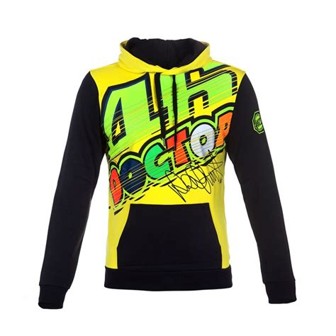 Hoodie 46 The Doctor Hitam valentino 46 hoodie riders v