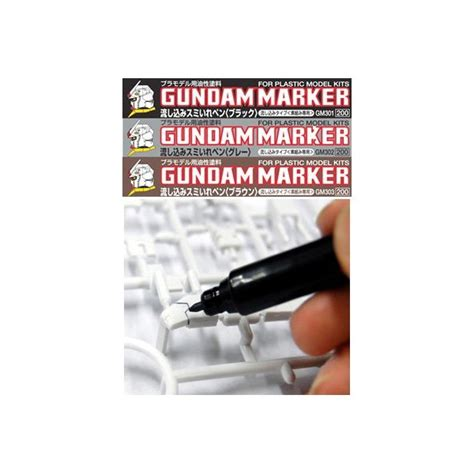 Gundam Marker Thin Type Black Gm301 gundam marker thin type gray for panel lines www robotines