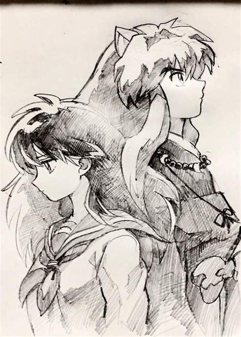 Imagenes De Inuyasha Blanco Y Negro | kagome inuyasha anime sketches clean pinterest