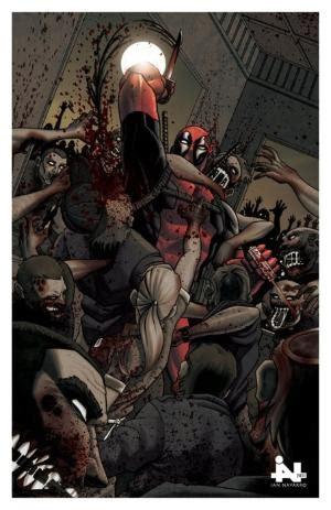 Hoodie Deadpool Hitam 1 Deadpool Vs Punisher By Kaare