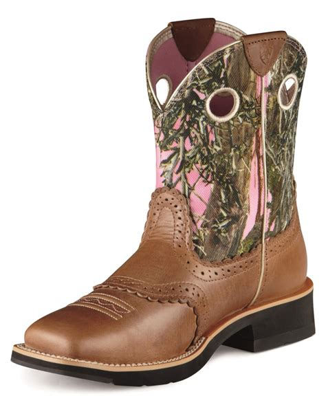ariat 174 fatbaby pink camo boots fort brands