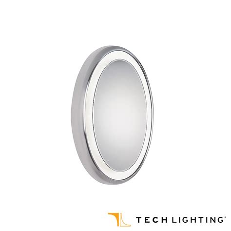 oval mirror with lights tigris mirror oval bath light fixture tech lighting