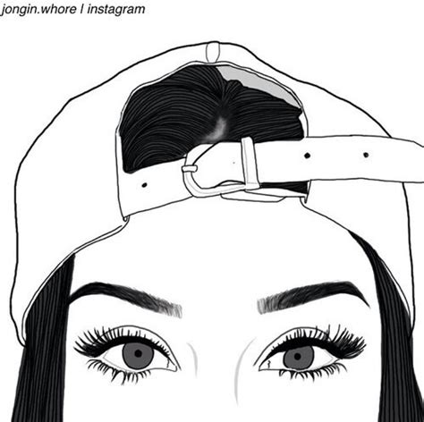 Topi Snapback You Distro Polos Yomerch 4 drawing eyebrows grunge hat outlines image 3882514 by olga b on favim