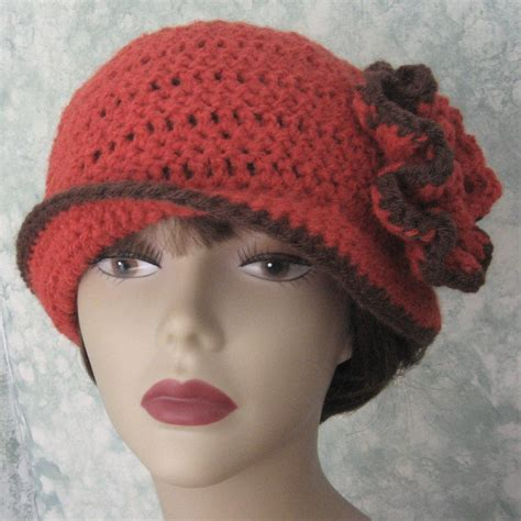 pattern for vintage hats crochet pattern womens flapper hat epattern with double flower