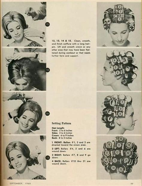 pattern for roller set roller setting patterns featured in a woman s magazine