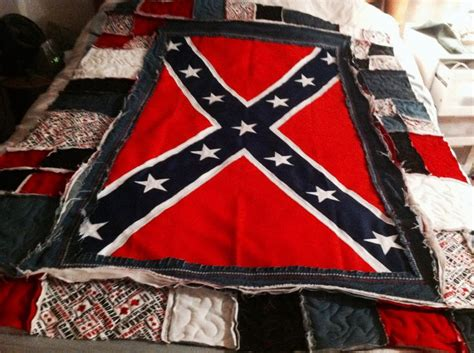Confederate Flag Quilt by Dukes Of Hazzard Rebel Flag Quilt Sewing Projects