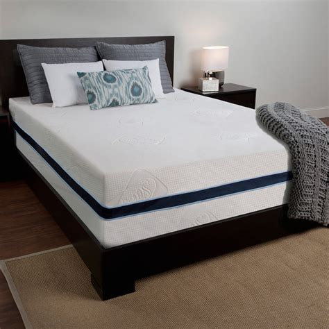 Overstock Mattress And Beds by Sealy 14 Inch Size Memory Foam Mattress Overstock