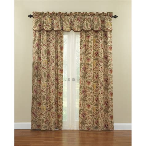 waverly curtains at lowes shop waverly imperial dress 84 in l floral antique rod
