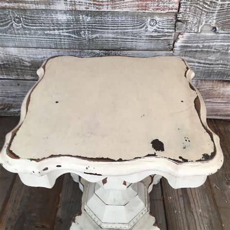 small distressed side table distressed small pedestal side table sold