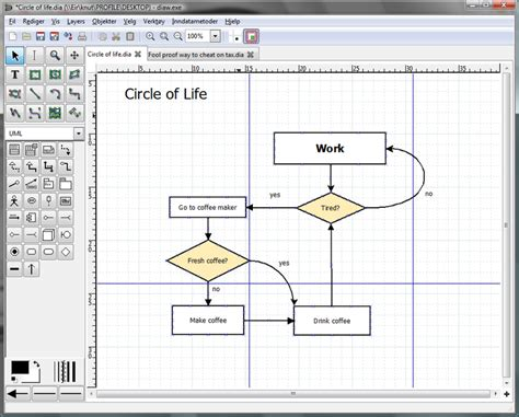 how to use dia diagram editor 8 excellent free tools for creating diagrams