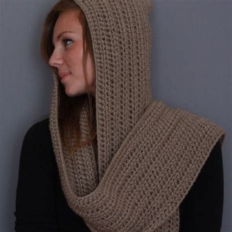 crochet hooded scarf pattern crochet