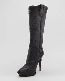Heel Boot Coboy Black Sepatu Heels Sepatu Coboy Boot Coboy Hitam lanvin high heel cowboy boot black