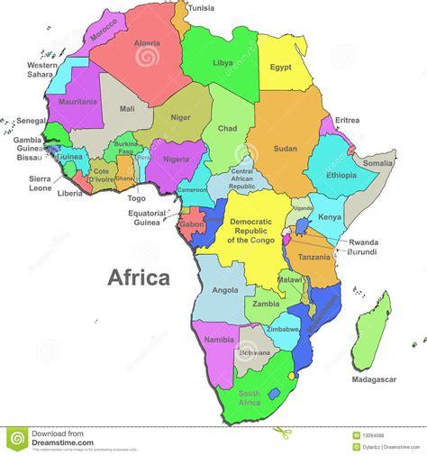 fotos de frica para imprimir afrika karte vektor abbildung illustration von vektor