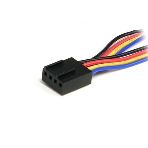 4 pin fan connector startech com 12in 4 pin fan power splitter cable f
