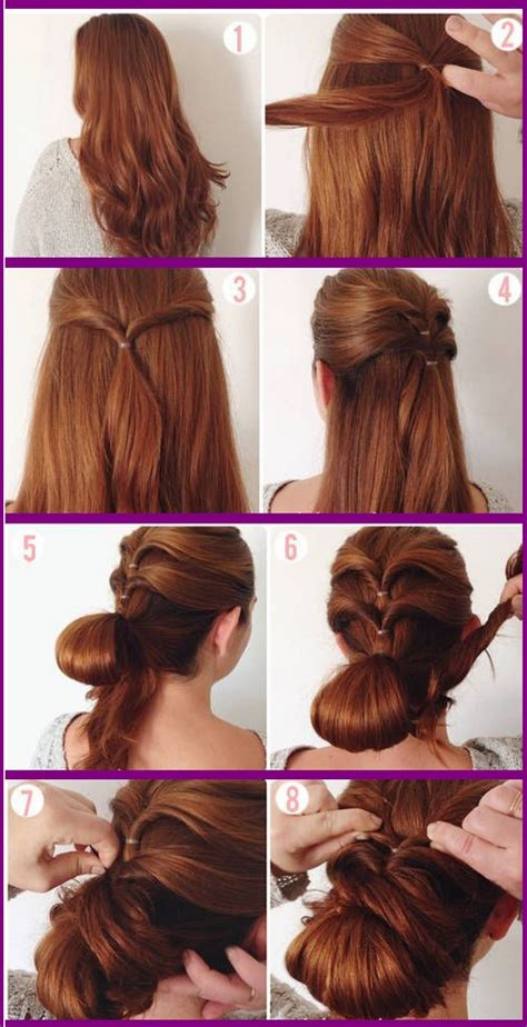 easy hairstyles step by step with pictures prom hairstyles step by step instructions hairstyles
