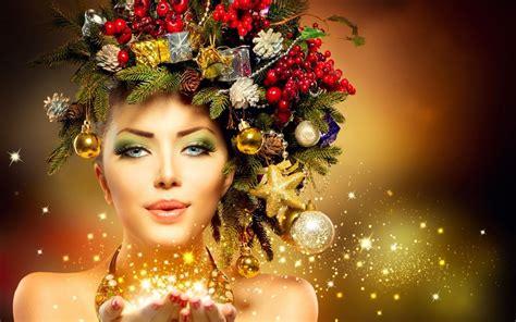 new year model ragazza modello inverno trucco natale anno nuovo hd sfondo