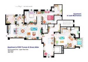Tv Show Apartment Floor Plans floor plans of homes from famous tv shows