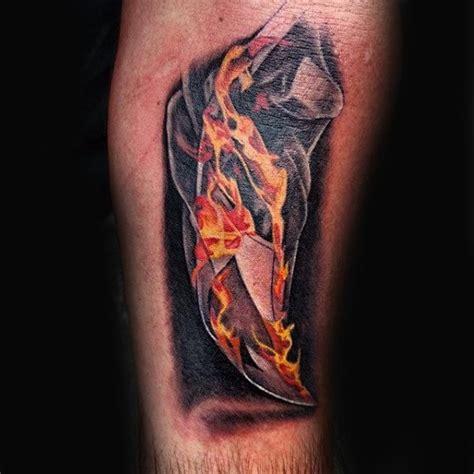 tattoo burned paper 80 fire tattoos for men burning ink design ideas