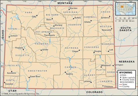 colorado wyoming map state and county maps of wyoming