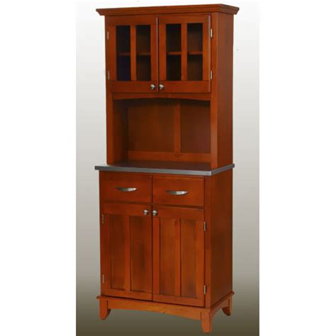 Kitchen Hutch Walmart Home Styles Small Buffet With Two Glass Door Hutch