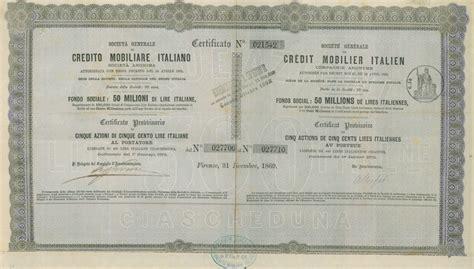 credito mobiliare generale di credito mobiliare soc titolo finanziario