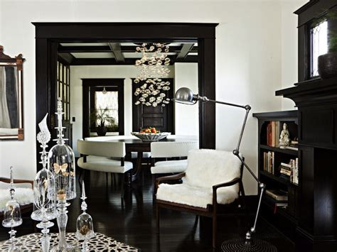 black door moldings design ideas