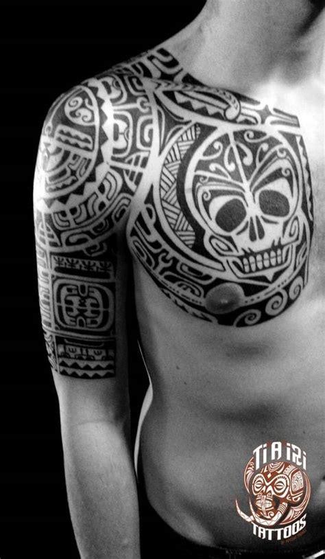 tattoo on chest to arm polynesian shoulder chest tattoos ti a iri polynesian
